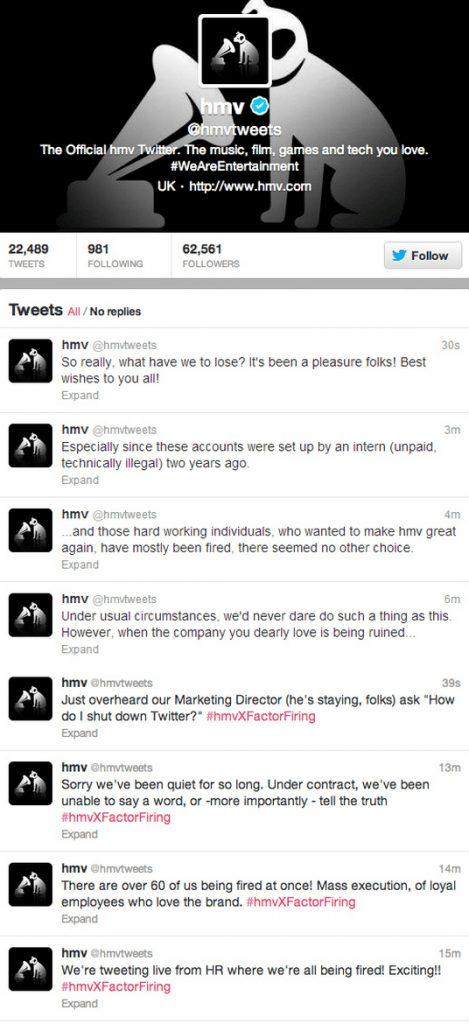 hmv twitter fail