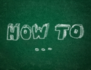 How to on green chalkboard