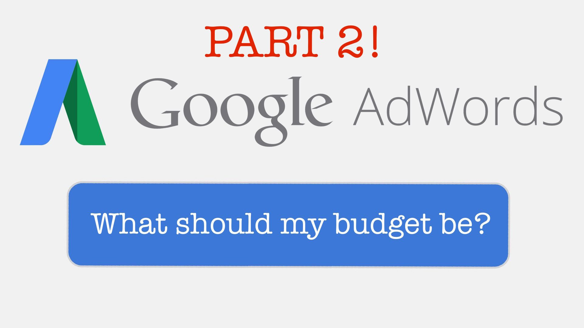 adwords budget 2